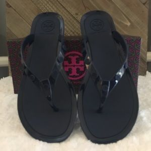 Tory Burch Studded Logo Jelly slippers